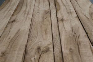 rustic oak beams close up