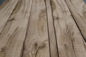 rustic oak beams close up